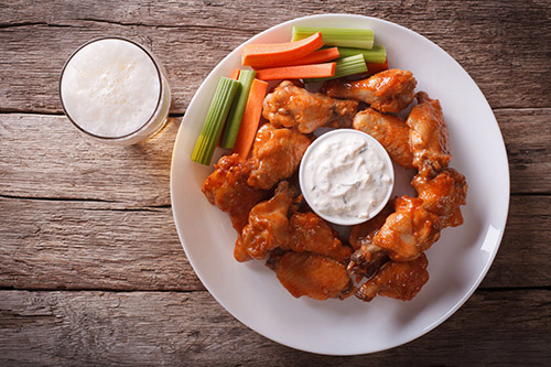 Recept na Buffalo Wings
